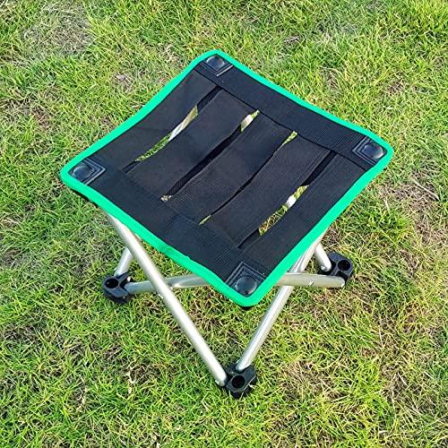 Mountainsea Taburete de pajarita para silla al aire libre, taburete de pintura, silla de pesca portátil ultraligero para adultos (color: verde bian ponyza)