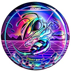 neon colored disc with bee and stinger