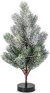 Seasonal Décor 35 سنتيمتر لامعة شجرة اصطناعية مضيئة شجرة عيد الميلاد سطح المكتب الديكور هوم عيد الميلاد الحلي for Xmas Dec...
