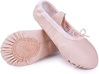 Leather Shoes Split-Sole Slipper Flats Ballet Dance Shoes for Toddler Girl Boy Kid