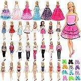 Miunana 24 Accessori per Barbie 11.5 Pollici / 30 CM Bambola: 4 Vestiti alla Moda + 2 Tops + 2 Pantaloni + 2 Vestiti Grandi + 4 Costumi da Bagno + 10 PCS Scarpe