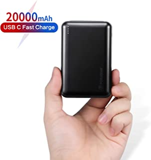 POSUGEAR Powerbank 20000mAh, Bateria Externa Movil Carga Rápida PD 22.5W (USB C Power Delivery & Quick Charge 3.0) con 3 Entradas (Dos Cables - USB C & Micro)