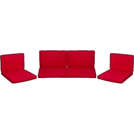 beo 120gr. PolyesterPY305 Monaco Coussin de Rechange imperméable Rouge