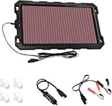 Solar Car Battery Charger Maintainer, 3.3W 12V Portable Solar Panel Trickle Charging Kit for Automotive, Motorcycle, Boat, ATV,Marine, RV, Trailer, Powersports, Snowmobile, etc.