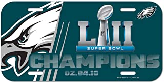 NFL Philadelphia Eagles Super Bowl LII Champions Plastic License Plate