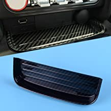 Carbon Fiber Texture ABS Interior Center Change Coin Tray Holder Box Fit for Ford Mustang 2015 2016 2017 2018