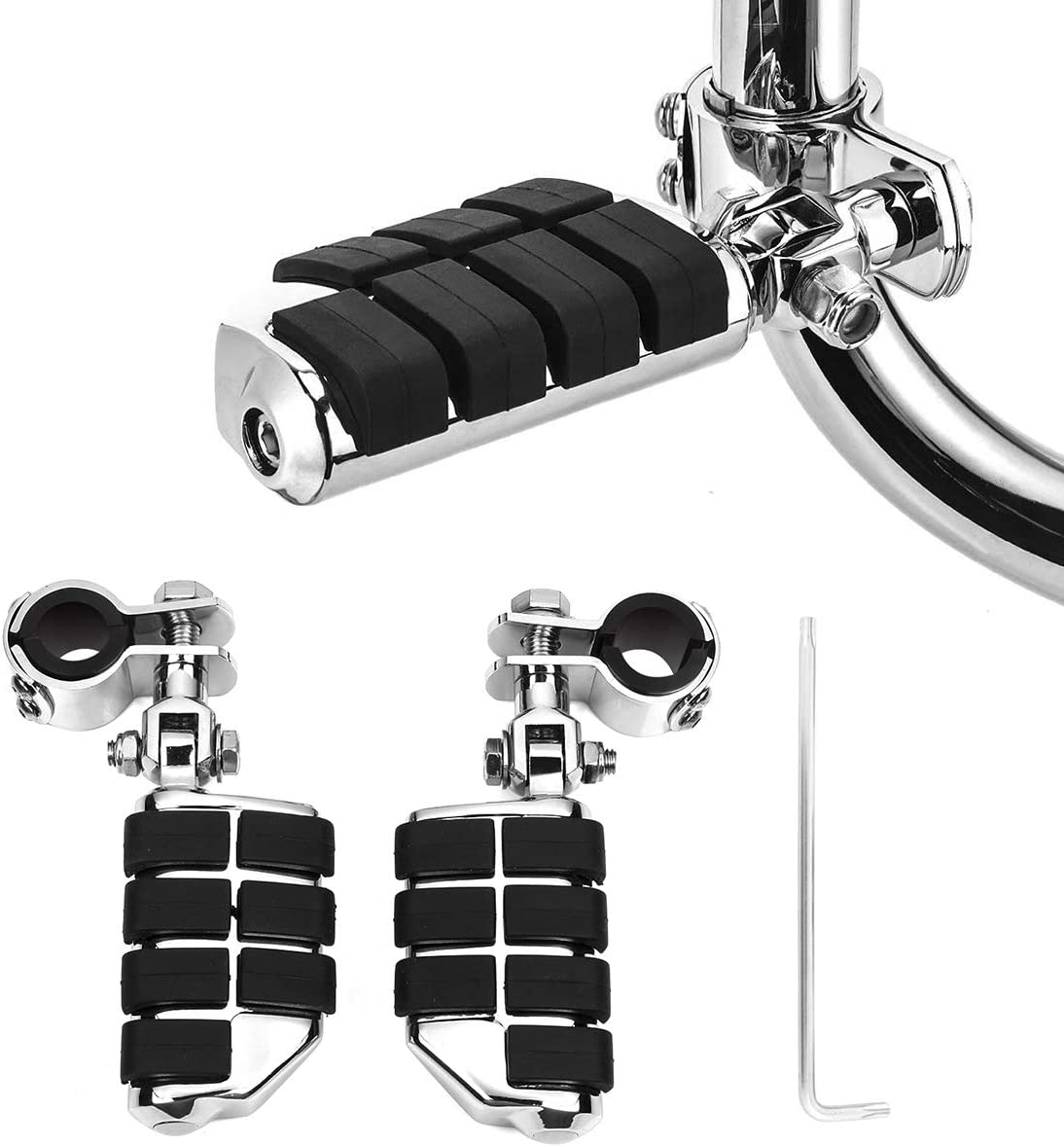 KING SHOWDEN All items free shipping Motorcycle Long-awaited Foot Pegs Com Rest Highway Footpegs