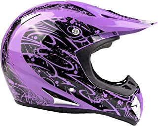 Typhoon Adult Women's Dirt Bike Helmet ATV Off Road ORV Motocross Helmet DOT..