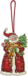 Dimensions Counted Cross Stitch, Santa Ornament