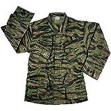 Rothco Men's Vintage Vietnam Fatigue Shirt Rip-Stop (Tiger Stripe Camo, 2XLarge)