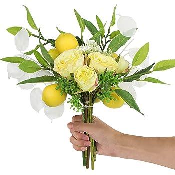 Artificial Long Stem Sunny Yellow Roses