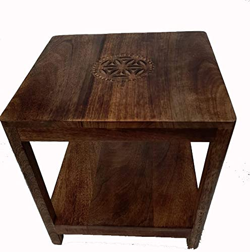 A One Shoppe Solid Handmade Carving Stool For Office Home Furniture