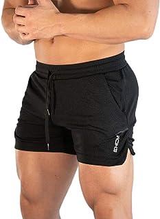 SUNSIOM Men's Bodybuilding Gym Shorts Boxing Running Training Short Pants