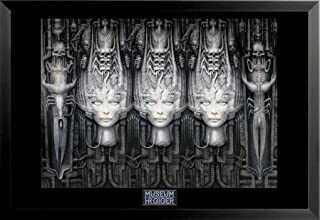 buyartforless FRAMED LI II by HR Giger 36x24 Fantasy Science Fiction Art Print Poster