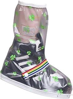 Botas de lluvia Cubrebotas impermeables para mujer Zapatillas antideslizantes impermeables antideslizantes para ciclistas ...