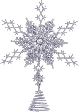 Kurt S. Adler Kurt Adler 8-Inch Silver Star Snowflake Treetop