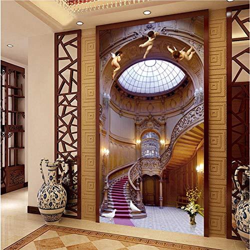 European Angel Stair Heaven Background 3D Mural Wallpapers per Corridoio Corridoio Spazio Carta da parati 3D Murales per la casa di lusso-300X250CM