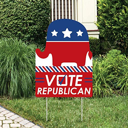 Big Dot of Happiness Republican Election - Party Decorations - Political 2020 Election Party Welcome Yard Sign