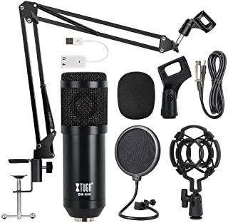 Beauenty for BM800 Professional Broadcasting Studio Recording Condenser Microphone Mic Kit with Sound card
