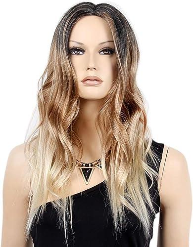 Europ che und amerikanische Damen Perücke 25-Zoll-Farbverlauf langes lockiges Haar Fünf Chemiefaserperücken zum Spaß, Themenparty, Rollenspiele (Farbe   A)
