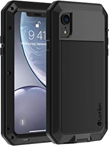 iPhone XR Case, Heavy Duty Shockproof [Tough Armour] Metal Case with Built-in Screen Protector, 360 Full Body Protective Cover for iPhone XR (6.1