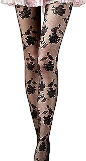 Dorical Unterwäsche Dorical Damen Sexy Spitze Strumpfhose Elegant Rose Blumenmuster Erotic Strumpfhose Hollow Out Strumpf Netzstrümpfe Versuchung Lingerie Pantyhose
