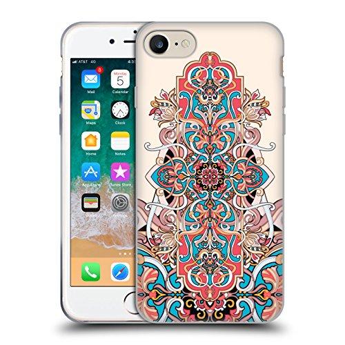 Head Case Designs Licenza Ufficiale Giulio Rossi Damasco Collezione Deco Cover in Morbido Gel Compatibile con Apple iPhone 7 / iPhone 8 / iPhone SE 2020