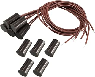 uxcell 5pcs RC-33 NC Recessed Wired Security Window Door Contact Sensor Alarm Magnetic Reed Switch Brown