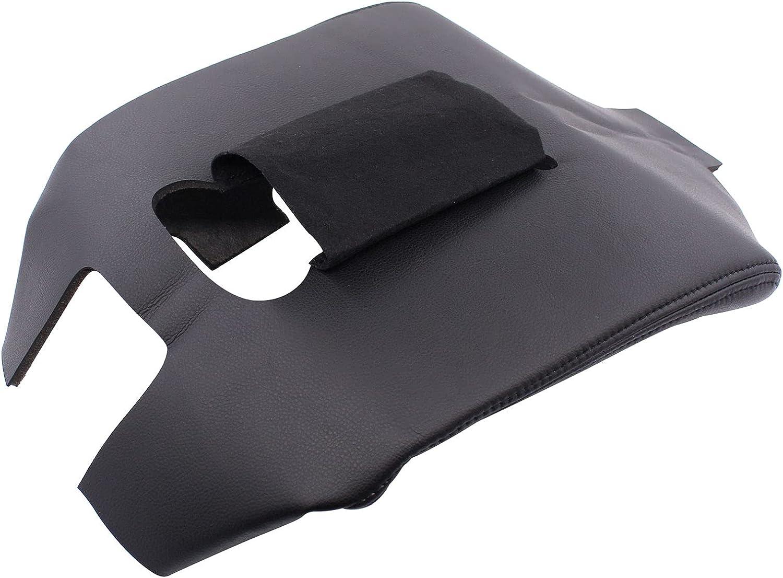 Large-scale sale XtremeAmazing Center Console sale Lid Armrest Black Leather Cover Gra