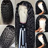 Lace Front Wigs Human Hair Water Wave 4x4 Lace Front Wigs Brazilian Human Hair Wigs 4X4 Lace Front Wigs for Women Wet and Wavy lace Front Wigs Natural Color (28 Inch, 4x4 water wig)