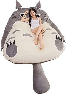 Tatami Madrassmattor Cartoon Totoro Barnmadrass Mjuk Tjockare, Cartoon Totoro Tatami Lazy Plysch sovdyna Söt sovsäck Bädds...