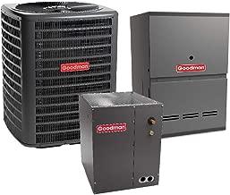 Goodman 2 Ton 14 SEER Air Conditioner GSX160241, Coil CAPF3636A6, 40,000 BTU 80% AFUE Downflow Gas Furnace GDH80403AN