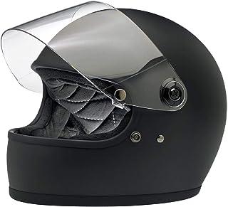 Nero lucido colore Biltwell Lane splitter solido moto casco integrale