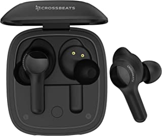 CrossBeats Torq Touch Bluetooth Truly Wireless In-Ear Headphone With Mic (Black)