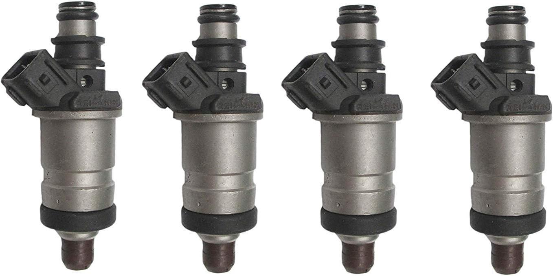 Set of 4 unisex Fuel Injectors for Honda 96 97 00 LX 98 061 List price DX 99 Civic