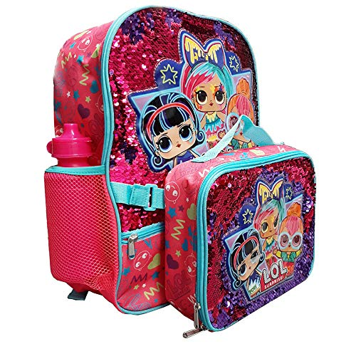 Magic Sequins L.O.L 16' Backpack With Detachable Matching Lunch Box