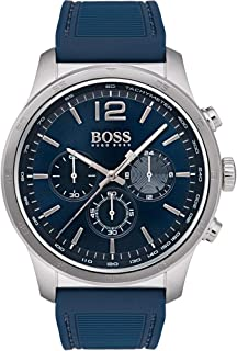 Hugo Boss Men's Blue Dial Silicone Band Watch - 1513526