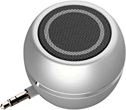 Rumfo Mini Phone Speaker Portable Wireless Plug in Speaker with 3.5mm Aux Audio Jack Rechargeable Plug and Play Clear Bass Speaker Universal For Cell Phone iPad MP3 MP4 Tablet Computer (Silver)