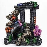JILYEMOY - Columna romana para acuario, decoración para acuario de peces de montaña de resina, 16 cm de largo x 18 cm de altura