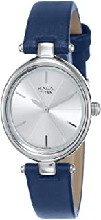 Titan Women's Silver Dial Stainless Steel Band Watch - 2579SL01