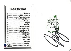 Sergio Garcia Signed Augusta National Masters Scorecard Beckett - Beckett Authentication - Autographed Golf Scorecards