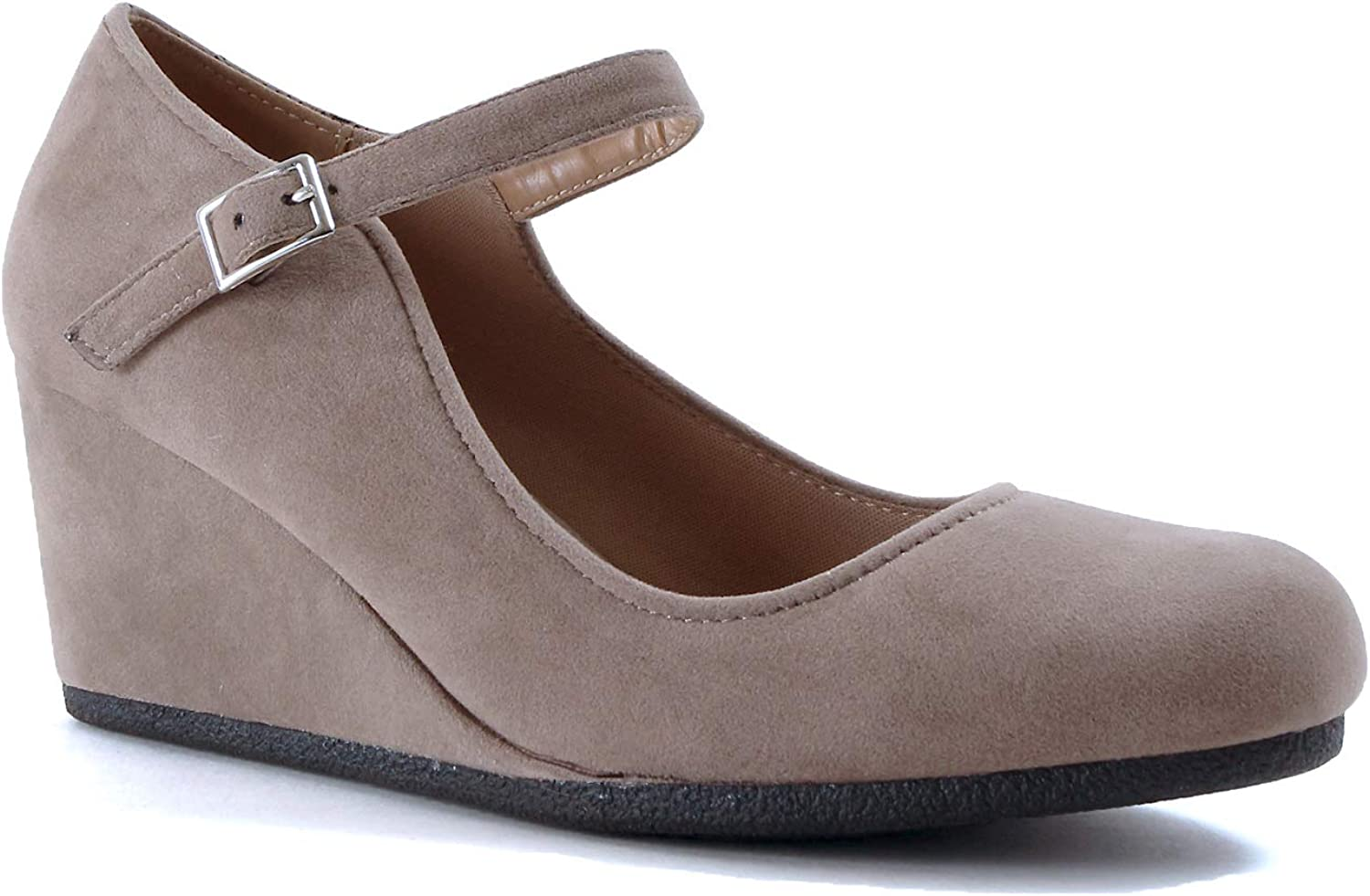 Guilty shoes - Patricia-05 Taupe Suede, 10