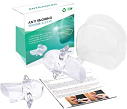 Anti Mouth Snoring Tongue device, Clear Soft Silicone Tongue Case Cover gets a Zen Sleep(2 Pack)