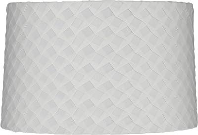 10x16) x(10x16) x11 Rectangular Drum Lampshade White with ...