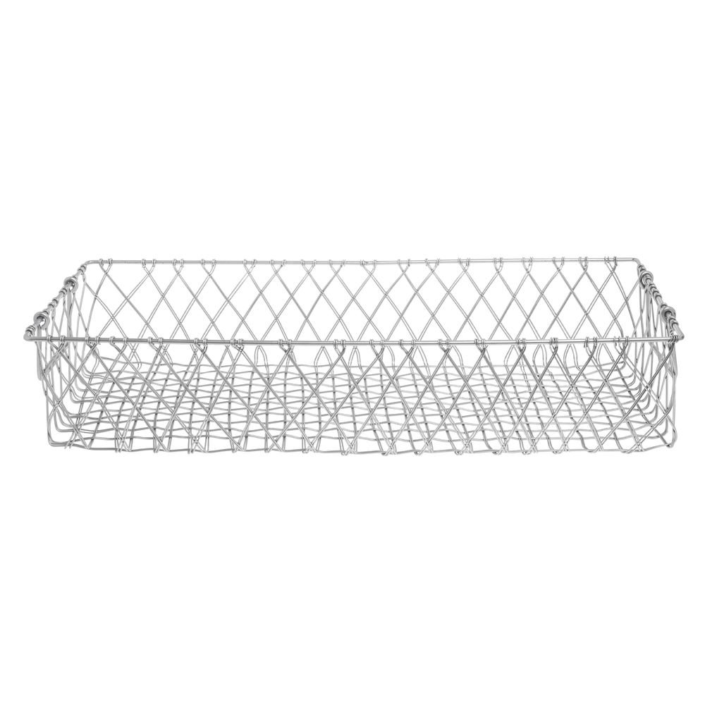 Hubert Urban Link Rectangular Tapered Milwaukee Mall Steel with Silver Max 58% OFF Basket H