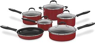 Cuisinart Advantage Nonstick 11-Piece Cookware Set, Red