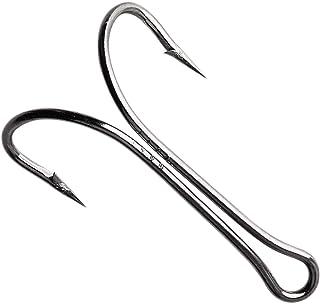 OROOTL Double Fishing Hooks Frog Hooks, 50pcs High Carbon Steel Fly Tying Hooks Classic Open Shank Double Frog Hooks Barbe...