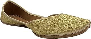 Stop n Style Gold Punjabi Jutti for Womens Pakistani Mojari Shoes Punjabi Shoes Online Jutti
