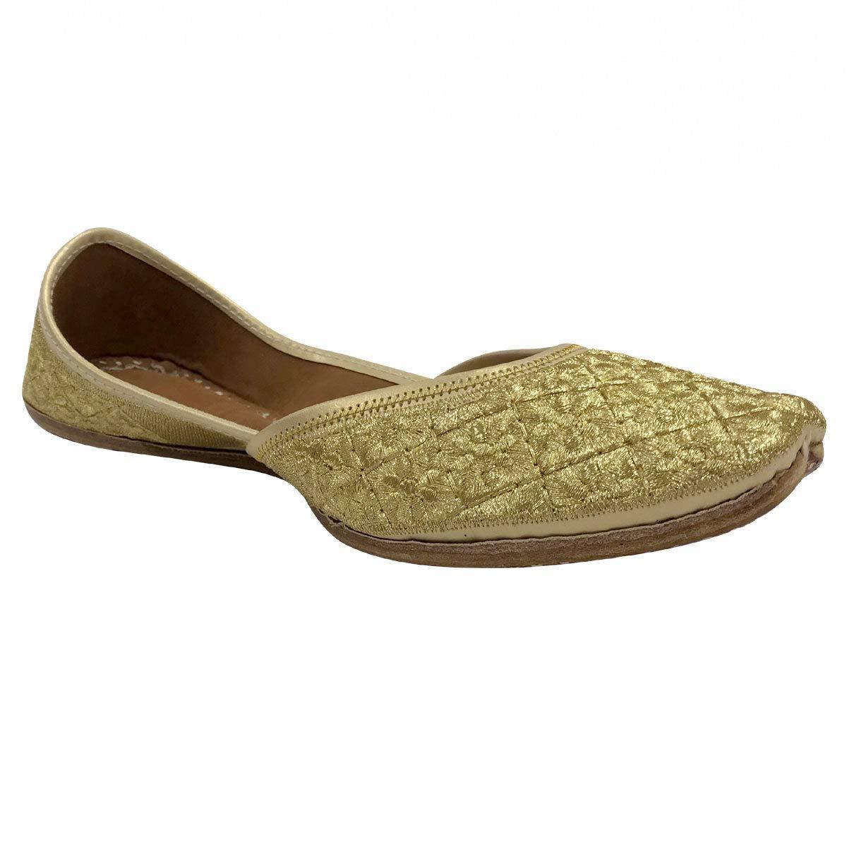 Stop n Style Gold Punjabi Jutti for