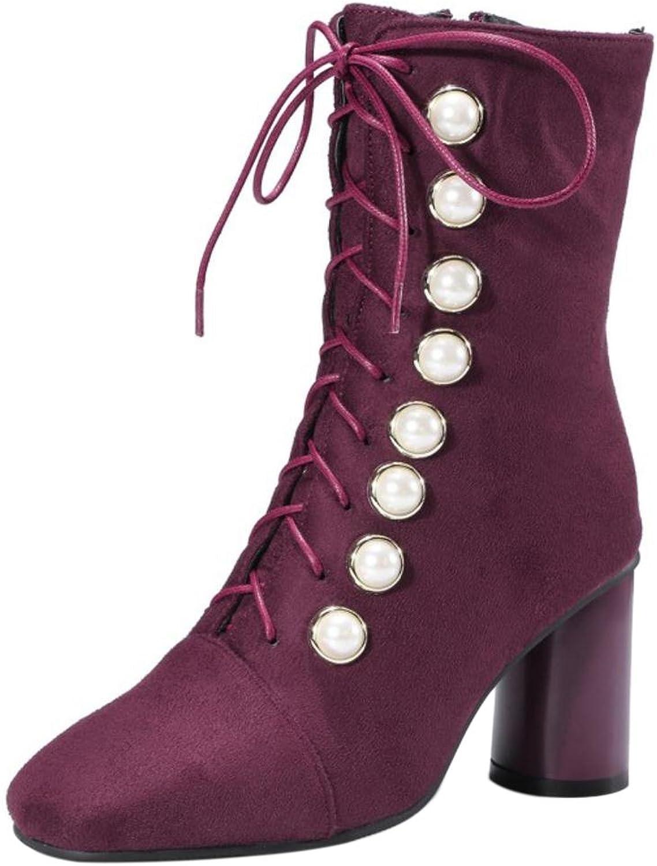 FizaiZifai Women Fashion Heels Boots Zipper